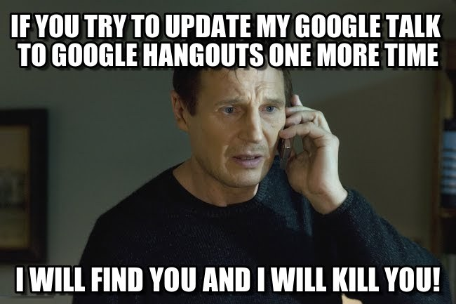 hate new google hangouts