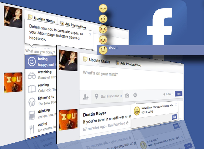 how to delete status on facebook