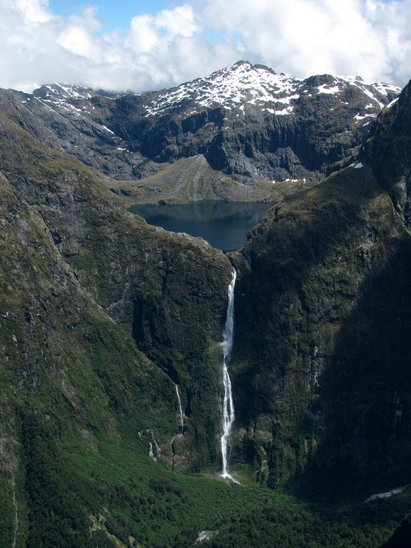 Sutherland Falls, New Zealand Waterfall