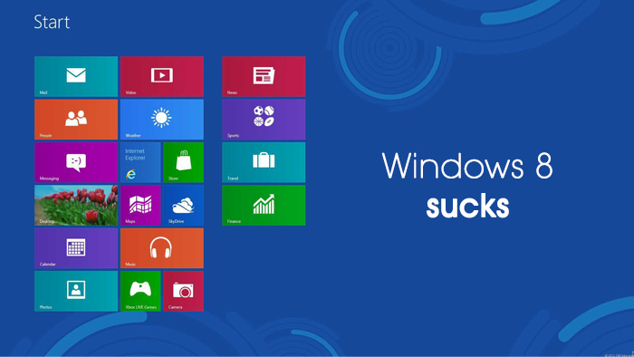 windows 8 sucks