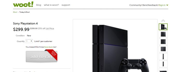 woot ps4 deal