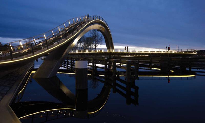 Melkwegbridge Bridge, Noordhollandsch Kanaal, Purmerend, The Netherlands