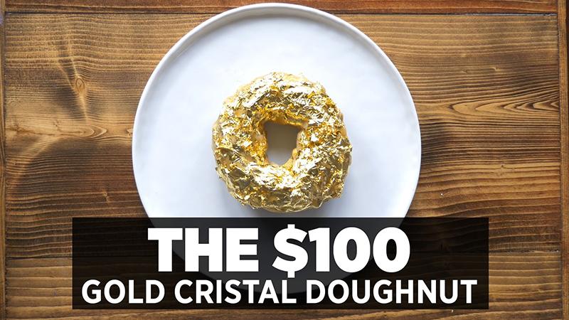 24-karat Gold Gilded Cristal Doughnut - $100 each