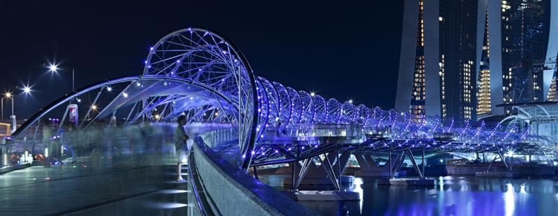 Helix Bridge, Esplanade Mall, Singapore