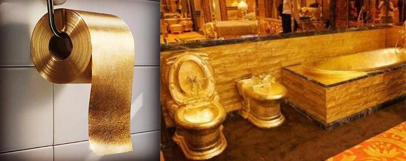 22-karat Gold Toilet Paper - $2 Million each