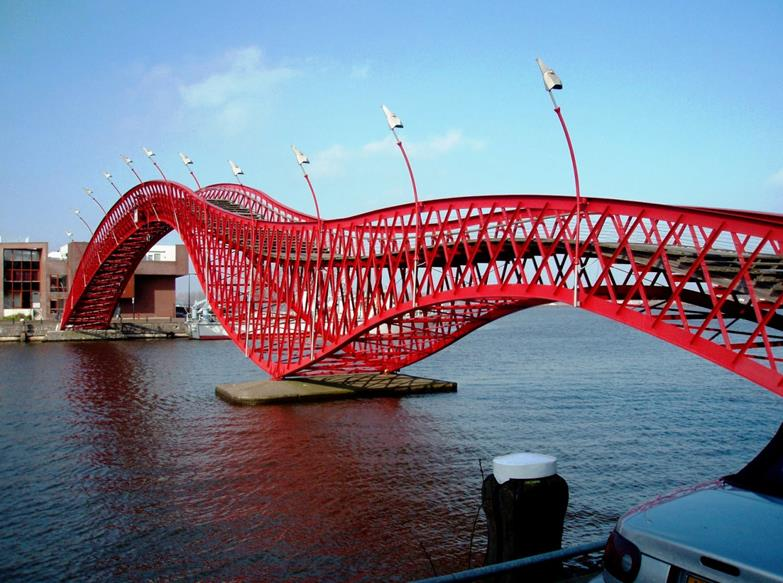 Python Bridge / High Bridge / Lage Brug, Amsterdam, Netherlands