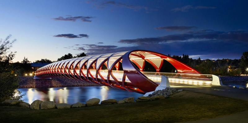 Peace Bridge, Calgary, Alberta, Canada