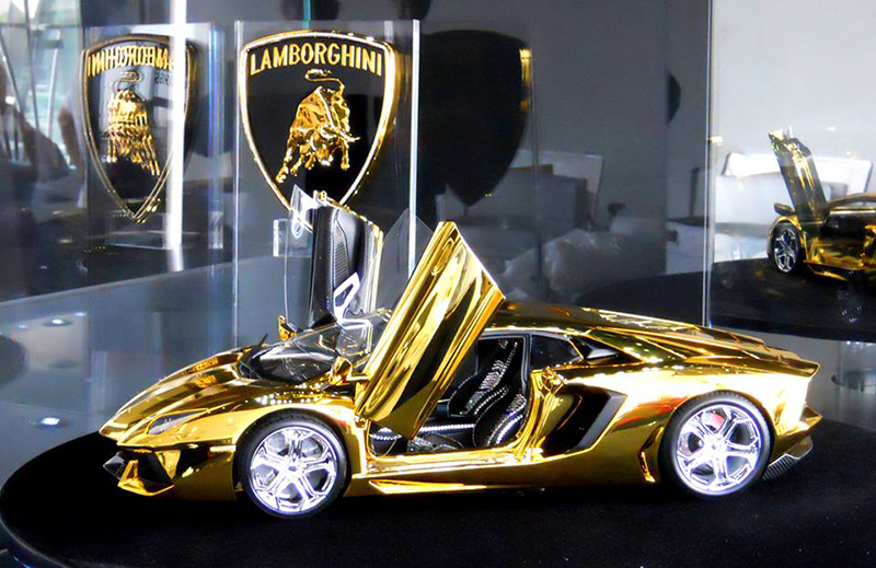 Miniature Lamborghini Aventador - $7.5 million each