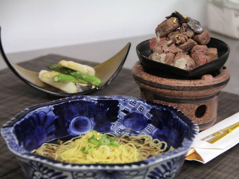 Gold-Flecked Ramen Noodles - $180 per bowl