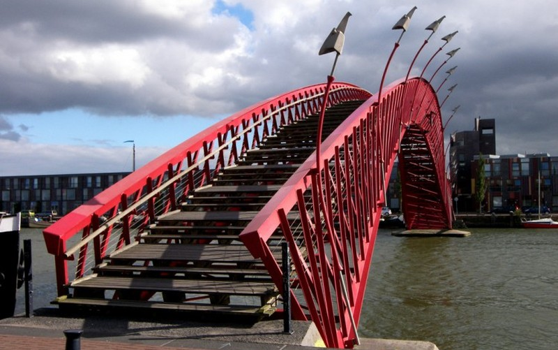 python bridge amsterdam netherlands steps