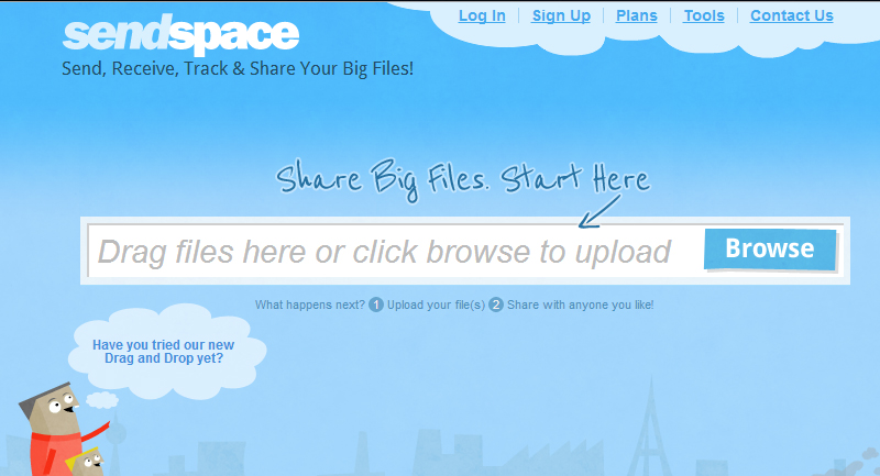 sendspace-screenshot