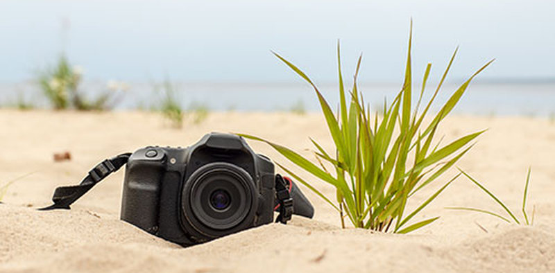 dslr beach picture