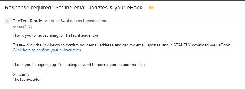 email confirm screenshot