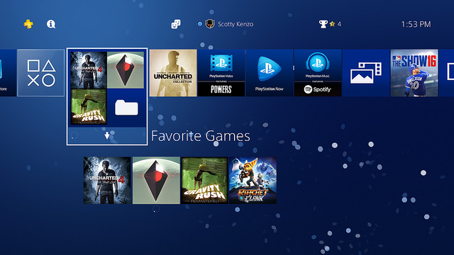 sony ps4 4-00 update folders