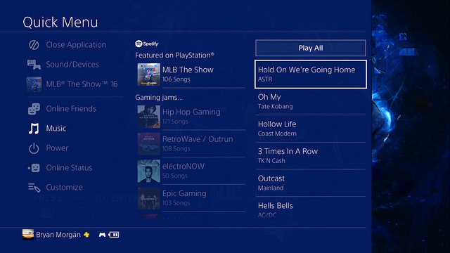 sony ps4 4-00 update music