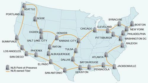major internet hubs