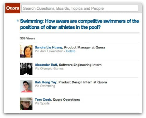 Quora reveals everything you have read on the website to the public