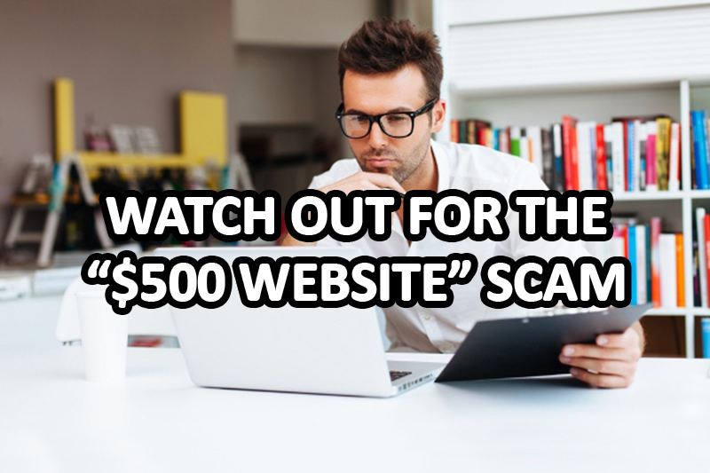 the 500 dollar website scam
