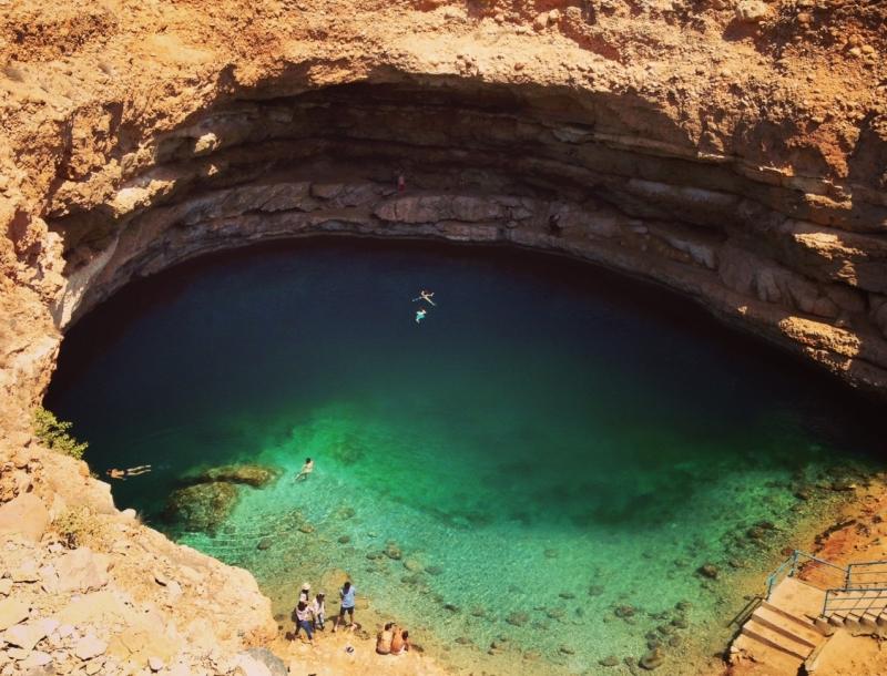 Bimmah Sinkhole, Hawiyat Najim Park, Oman | Beautiful Hole