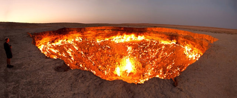 The Door to Hell, Derweze, Turkmenistan | Mysterious Hole