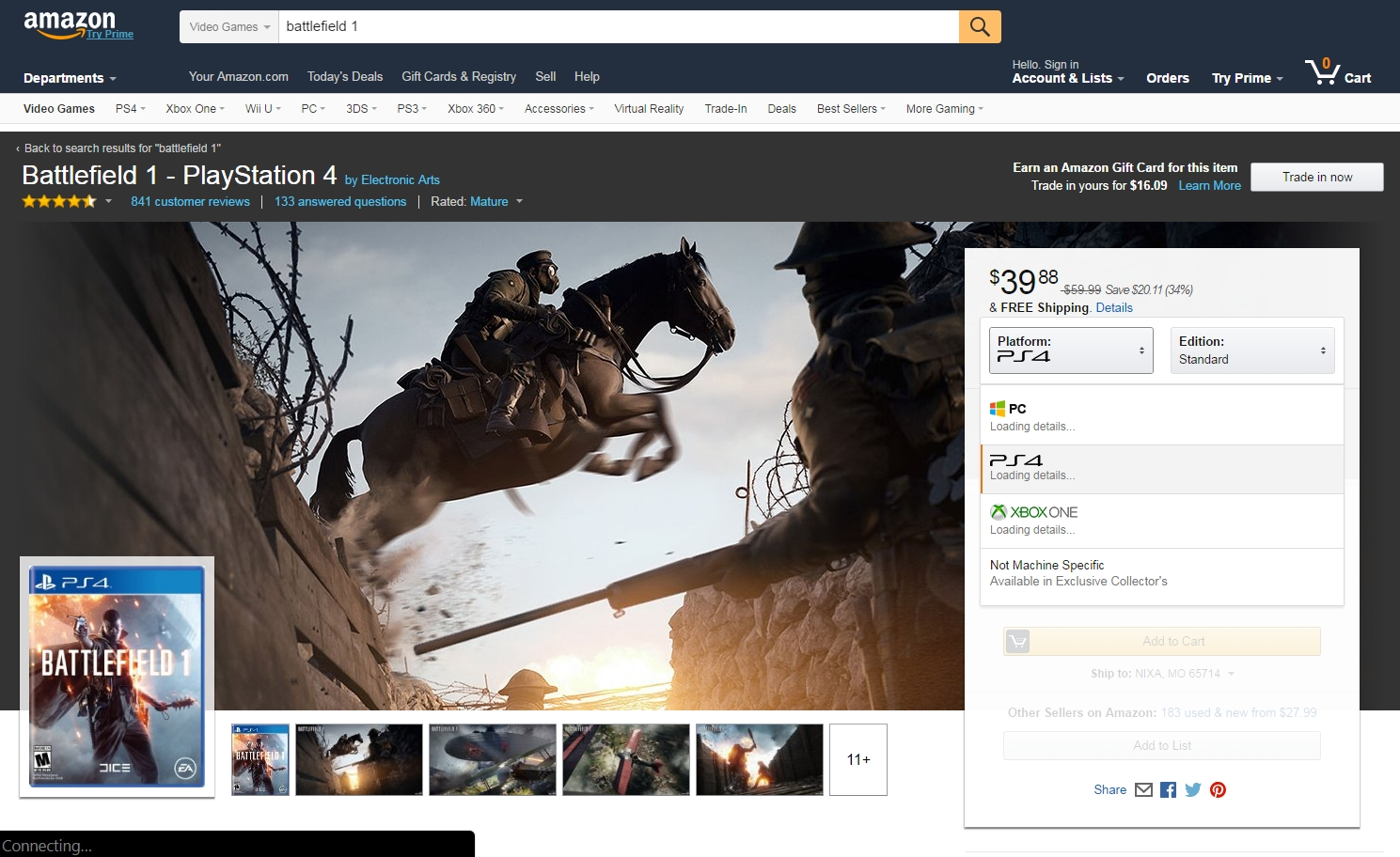 battlefield-1-amazon-redesign-dropdown-console