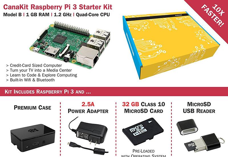 CanaKit Raspberry Pi 3 Starter Kit - For the budding engineer