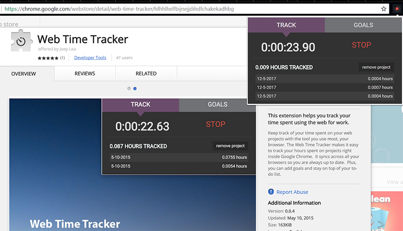 Web Time Tracker