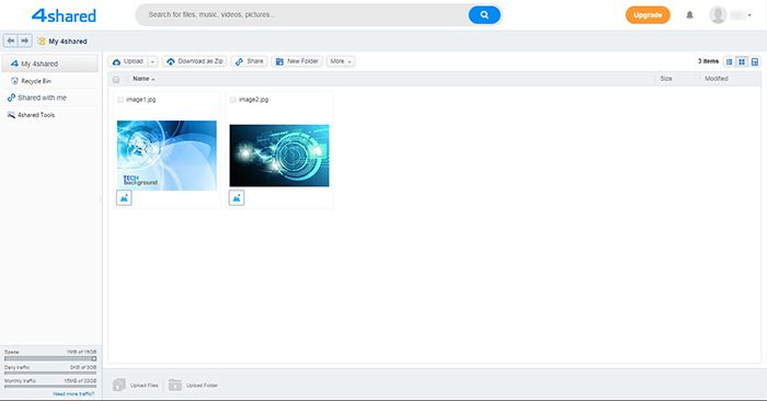 4shared Admin Page