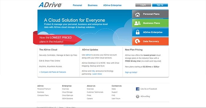 ADrive Home Page