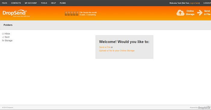 Dropsend Admin Page