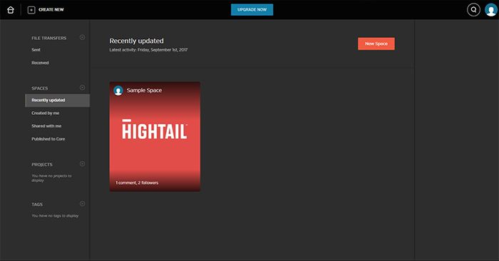 HighTail Admin Page