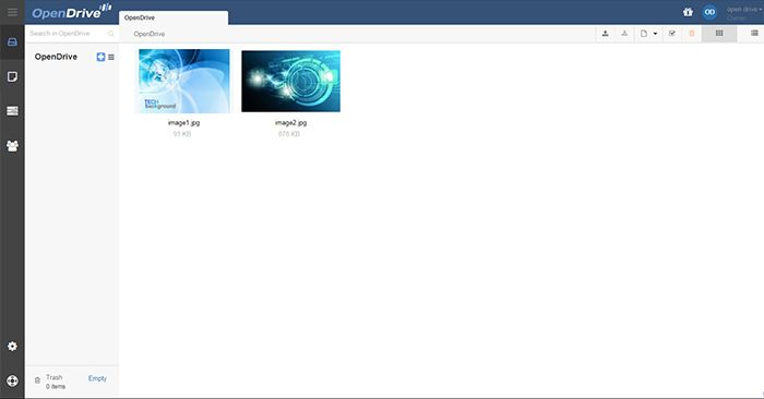 Opendrive Admin Page