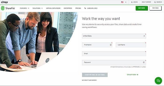 ShareFile Home Page