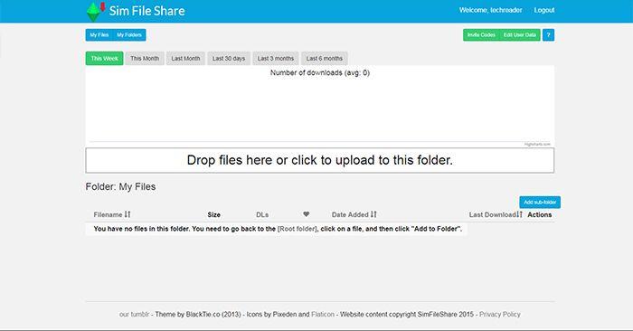Sim File Share Admin Page