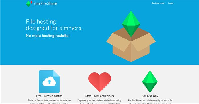 Sim File Share Home Page