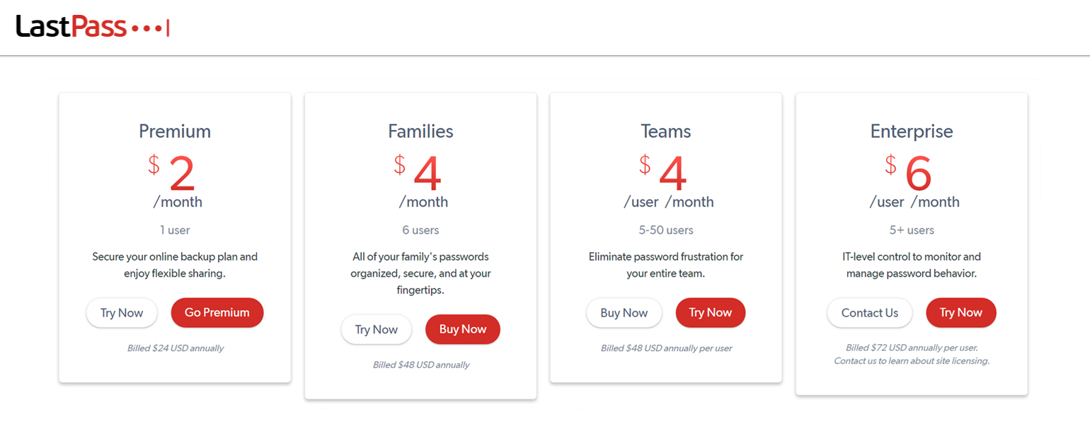 lastpass-prices