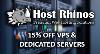 HostRhinos 15% Off For Life on VPS & Dedicated Servers